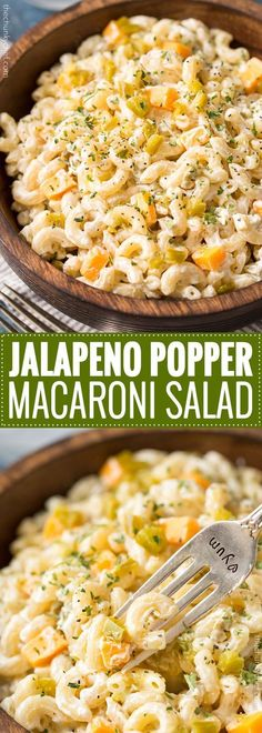 Jalapeno Popper Macaroni Salad | Regular macaroni salad, step aside... this creamy jalapeño popper version is full of amazing flavors, packs some spicy punch, and is perfect for any gathering or bbq! | http://thechunkychef.com #dessertfoodrecipes
