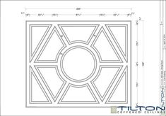 Coffered Ceiling Design Drawing - Bespoke 37