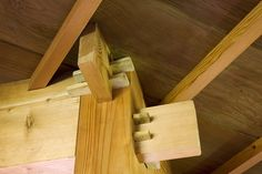 Ultra-traditional Japanese joinery work. Not a single nail used. Amongst other things, it provides structures with a certain flexibility. Useful in case of earthquakes, and perfect from an aesthetic standpoint.    location: muir beach, ca  client: green gulch farm: zen center  type: meditation retreat  scope: 1 dormitory, 1 meeting center, 1 residence  wood: various  services: design, mill, construction