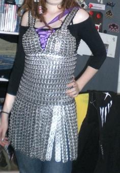 Pop Tab dress with straps