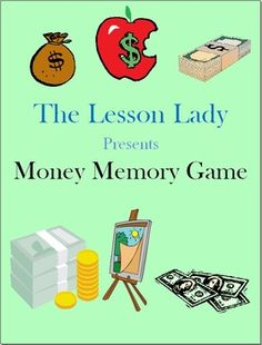 Money Memory Game! This game includes 48 cards to help students learn about and practice their money skills. Available for purchase.