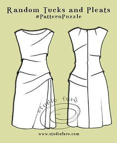 How do you plan your pattern making? Pattern Puzzle - Random Tucks and Pleats http://www.studiofaro.com/well-suited/pattern-puzzle-random-tucks-and-pleats?utm_content=bufferc7223&utm_medium=social&utm_source=pinterest.com&utm_campaign=buffer All my Pattern Puzzle posts have pattern plans to help you start and keep track of your changes. #PatternMakingClasses #PatternPuzzles #wellsuitedblog #studiofaro