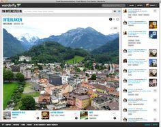 similar User Interface site of pinterest