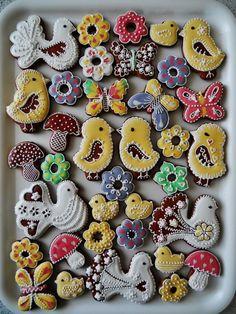 Summer Cookies, Easter Cookies, Easter Biscuits, Order Cake, Kinds Of Cookies, Custom Cookies, How To Make Cake, Cookie Decorating, Dessert