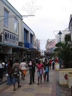 People shopping in the capital Bridgetown, Barbados