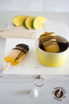 Polos de Mango y Limonada