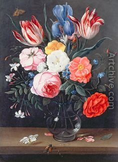 Still Life of Flowers in a Vase 2 - Jan van Kessel