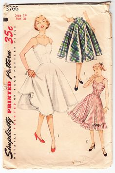 Vintage 1951 Simplicity 3766 Sewing Pattern by SewUniqueClassique