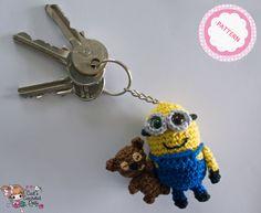 PATTERN crocheted Minion Bob keychain by CaitsCrochetedDolls