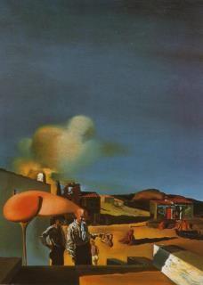 """Salvador Dali (1904-1989) """"The Average Fine and Invisible Harp"""" (1932) #DALI"""