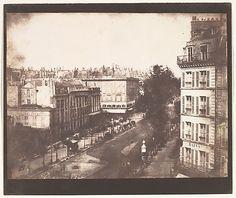 William Henry Fox Talbot, (British, 1800–1877). View of the Boulevards of Paris, 1843. The Metropolitan Museum of Art, New York. Bequest of Maurice B. Sendak, 2013 (2013.159.57) #paris