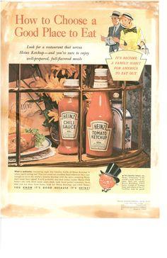 Heinz advert from 1955. #retro