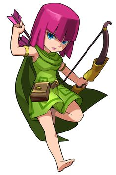 View an image titled 'Archer Art' in our Puzzle & Dragons art gallery featuring official character designs, concept art, and promo pictures. Game Character Design, Comic Character, Character Concept, Clash Royale Anime, Desenhos Clash Royale, Clash Of Clans Game, Amazons Women Warriors, Dragon City, Puzzle Art