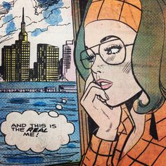 """Comic Girls Say.."""" And this is the real me """". #comic #vintage"""