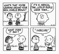 #thepeanuts #pnts #schulz #charliebrown #linus #insecure