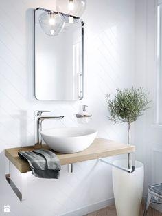 Wystrój wnętrz - Mała łazienka bez okna, z wanną - styl Skandynawski. Projekty i aranżacje najlepszych designerów. Prawdziwe inspiracje dla każdego, dla kogo liczy się dobry gust i nieprzeciętne rozwiązania w nowoczesnym projektowaniu i dekorowaniu wnętrz. Obejrzyj zdjęcia!