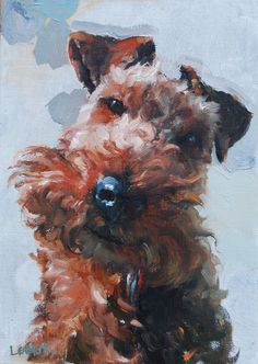 Welsh Terrier Painting, Heather Lenefsky Art - dogs & animals