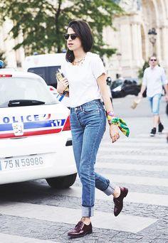Leandra Medine Jeans Street Style