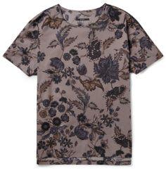 d018e45196a99 Gucci - Gray Floral-Print Cotton-Poplin Shirt for Men - Lyst