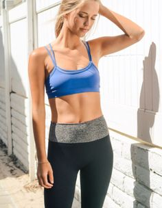 e11ccbbee7041 Blue Double Layer Sports   Yoga Bra - Extra Small   Small