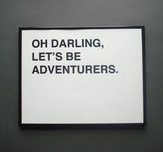 adventure is calling....