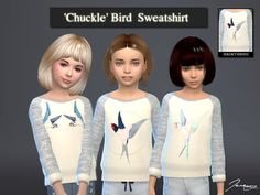 Chuckle Bird Sweatshirt for Girls .  Found in TSR Category 'sims 4 Female Child Everyday'