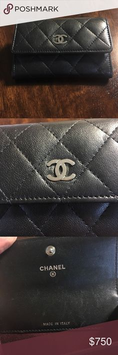 08de8e26632 Chanel cardholder lamb skin Authentic Chanel cardholder. In good condition.  Look at the pictures
