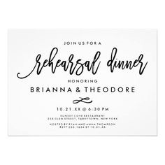#weddinginvitation #weddinginvitations (Chic Hand Lettered Wedding Rehearsal Dinner Card) #Black #Bold #Casual #Chic #Enclosure #Glamorous #HandLettered #Lettering #Modern #Pretty #Rehearsal #RehearsalDinner #Script #Simple #Type #Typography #Wedding #White is available on Custom Unique Wedding Invitations  store  http://ift.tt/2bcpOqT