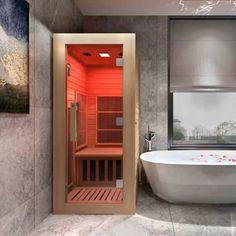 Sauna House, Sauna Room, Saunas, Mini Sauna, Home Infrared Sauna, Infared Sauna, Home Spa Room, Portable Sauna, Log Cabin Homes