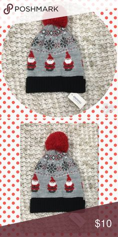 "🌬 NWT Aeropostale Santa Hat 🌬 This hat is adorable.  I loved it when I bought here on Poshmark and I still do...too bad my noggin is so big!  Honestly not sure if it would fit a woman.  I think it is better suited for kids or juniors.  It is not really the band at the bottom...it's the gray area that feels too tight on my head when I put it on.  Measurement of the black headband is 7.5"" unstretched and 11"" stretched. Aeropostale Accessories Hats"