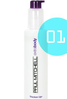 Heard this was  :)No. 1: Paul Mitchell Thicken Up, $18.39, 14 Best Volumizers for Hair....my hair is not as thick as it use to be.My hair when I was little and up till my 20s was crazy thick and full not anymore at 30:( but with this it has turned it around this product works non sticky , hair still flows and shiny! !!!!!!!!!!!!