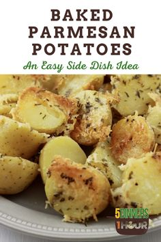 Baked quartered baby potatoes, topped with shredded parmesan cheese perfect side dish for dinner! #potatoes #cheese #dinner #sidedish #recipe Parmesan Potatoes, Baby Potatoes, Delicious Recipes, Tasty, Yummy Food, Veggie Recipes, Cooking Recipes, Quick Easy Dinner, Best Side Dishes