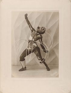 In 1920s Hamburg, a dancer couple created wild, Expressionist costumes that looked like retro robots and Bauhaus knights.