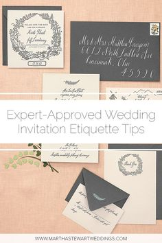 """When addressing your wedding invitations, """"Street,"""" """"Post Office Box,"""" and """"Apartment"""" should all be written in full. The same is true for city and state names and house numbers smaller than """"Mr."""" generally are abbreviated. Addressing Wedding Invitations, Wedding Invitation Etiquette, Wedding Etiquette, Wedding Stationery, Wedding Tips, Wedding Details, Our Wedding, Wedding Rings Online, Chicago Wedding Venues"""