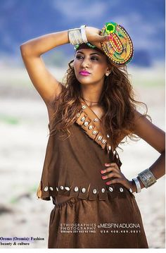 Oromo (Oromia) people their culture and fashion costume. African people. Oromo woman, culture, fashion and beauty