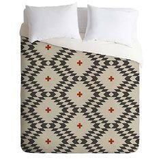 DENY Designs Holli Zollinger Native Natural Plus Duvet Cover in Grey