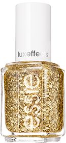 "Essie LuxeEffects ""Rock at the Top"" : Pristine Gold Glitter Nail Lacquer"