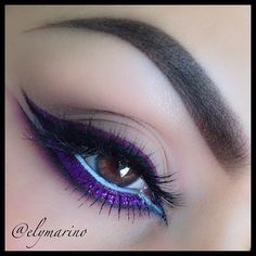 elymarino keeps it fun with this purple winged eye. #makeup