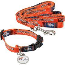 Denver Broncos Dog Collar & Leash Set