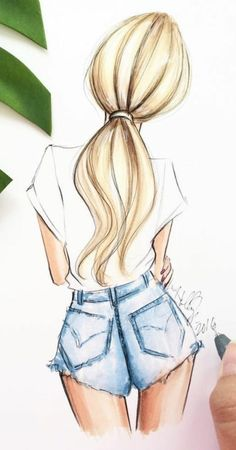 e2199265c Girl fashion dress drawing stripes