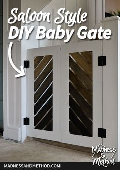 95e8a4a4f42 This rustic saloon style DIY baby gate is the perfect solution to prevent  baby from going