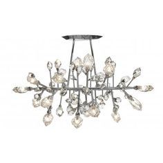 Shop for Saint-Louis Crystal Excess Horizontal Chandelier at Kneen & Co, the destination for luxury lighting, dinnerware and crystal. Van Der Straeten, Chandeliers, Chandelier Lighting, Ceiling Fixtures, Ceiling Lights, Vases, Saint Louis Crystal, Marble House, Marble Floor