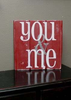 Items similar to YOU & ME Reclaimed Pallet Sign (Customizable) on Etsy My Funny Valentine, Valentine Day Love, Valentine Day Crafts, Holiday Crafts, Diy Valentine's Day Decorations, Valentines Day Decorations, Decor Ideas, Craft Ideas, Wood Block Crafts