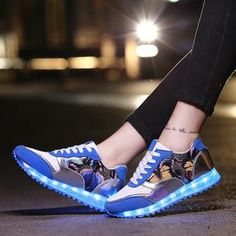 3 Colors Women Led Shoes Ligth Up Flats For Casual Walking Glowing Usb  Fashion Luminous Sneakers 2016 Chaussure Lumineuse d358b8589ade