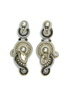 ARN-E615, silver earrings, bridal earrings