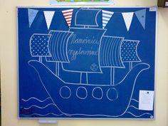 Výzdoba třídy - námořníci (celoroční téma).