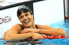 Dara Torres, una gran inspiración para mi y muchos nadadores!