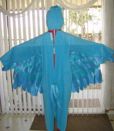 Custom Made Child Jewel Colored Macaw Inpired By Rio Inspired Halloween Costume
