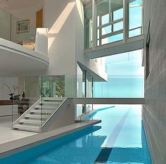 Love how the pool is running through the living room