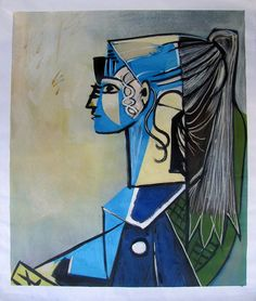 Pablo Picasso, Portrait of Sylvette David in Green Chair 1954, Oil Painting…                                                                                                                                                                                 More
